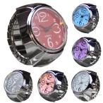 指輪時計 メンズ 腕時計 時計 レディース ウオッチ 時計 指時計 人差し指 中指 小指 指時計 リングウオッチ 黒 ブルー ピンク Finger-clock-02bk