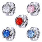 指輪時計 リング ウオッチカラー カラフル ステンレス 時計 サイズフリー 指輪ウォッチ フィンガーリングウオッチ 指時計 FRW-T