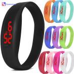Yahoo!westside時計 腕時計 ウォッチ LED腕時計 ディスプレイ デジタル クォーツ時計 シリコンバンド スポーツ ランニング ユニセックス ブラック LED-3456