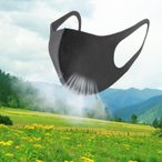マスク 夏用マスク 冷汗 冷感 黒マスク  3枚入り 洗える 立体 ウレタン スポンジ 風邪  花粉 男女兼用 mask-AA3A