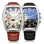SEWOR 自動巻き メンズ 腕時計 時計 機械式 手巻 三針 本革ベルト アナログ スケルトン  保証書付 SWQ01-577