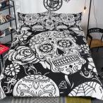 北欧寝具 ベッドカバー 掛け布団カバー 3点セット シングル ダブル クイーン ピローケース 北欧 花柄 植物柄 防ダニ |布団カバー 1点|枕カバー 2点 |
