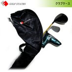 ゴルフステーツ クラブケース 5〜6本収納可能 ナイロン製 ショルダーベルト付 小物収納ポケット付 GSCC-1010