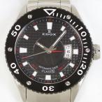EDOX エドックス クラスワン 80079 自動巻 メンズ 黒文字盤 中古美品