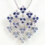 TASAKI 田崎真珠 グラデーションサファイヤ3.16ct ダイヤモンド0.24ct K18WG ネックレス・ブローチ