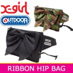 エックスガール ヒップバッグ  X-girl OUTDOOR PRODUCTS RIBBON HIP BAG アウトドアプロダクツ ボディバッグ ウエストポーチ リボン 送料無料