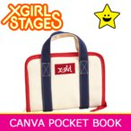 DM便送料無料 X-girl Stages エックスガール ステージス CANVAS POCKET BOOK 母子手帳ケース ジャバラ