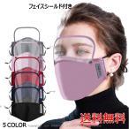 フェイスシールド マスク 防護メガネ付き 呼吸弁無し バルブ無し 接客業 フィットマスク 冷感 フェイスガード エチケット 水洗い