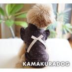 【ドッグウェア】【犬の服】ブラウンベロアシャツ