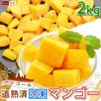 ポイント2倍 マンゴー 冷凍マンゴー 業務用 カット済み 完熟マンゴー 冷凍フルーツ 500gを4袋 計2kg