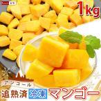 ポイント2倍 マンゴー 冷凍マンゴー 業務用 カット済み 完熟マンゴー 冷凍フルーツ 500gを2袋 計1kg