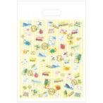 駄菓子やお菓子のセットの小分け用に かわいいスタンプ柄 小分け用袋(切手) 駄菓子12〜15個用(駄菓子スナック菓子だと2個〜4個用)×10枚