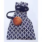 巾着袋(松皮菱・濃紺)�浴衣・和服・お祭り用巾着袋