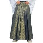 お値打ち金襴袴(うまのり型・ブルー・変り花菱)