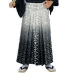 銀襴袴(馬乗り型・白/グレー/黒暈し・蜀江・花菱) 日舞 詩吟 能楽の舞台 舞踊袴 式典 成人式のはかま 高品位日本製 踊り袴