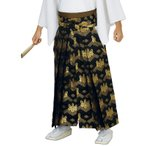 金襴袴(馬乗り型・黒・桐・入子菱) 日舞 詩吟 能楽の舞台 舞踊袴 式典 成人式のはかま 高品位日本製 踊り袴