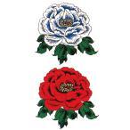 ペーパータトゥー(赤白牡丹 / 10cm×17.5cm)�祭化粧入れ墨シール