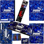 プーマ[Puma]鉛筆B+色鉛筆12色8点文具セット(20pm020-B+12c-8set)