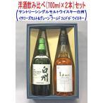 (洋酒飲み比べギフトセット)サントリーシングルモルトウイスキー白州43%700ml×イチローズモルト&グレーン ワールド ブレンデッド ウイスキー46%700ml