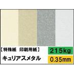 キュリアスメタル 215kg(0.35mm) 選べる7色,4サイズ(A3 A4 B4 B5) 特殊紙 ファンシーペーパー 印刷用紙 FSC認証