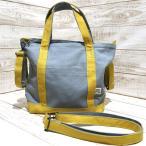 倉敷帆布のトートバッグ(フタ+肩紐+車椅子ベルト付)(グレー×キャメル)Sサイズ