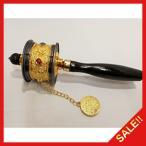 マニ車 西蔵 (チベット) 仏教 転経器 マニコロ 法具 仏具 金色装飾