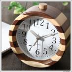 目覚まし時計 置き時計 おしゃれ アンティーク 木製 無垢 KATOMOKU カトモク モザイク アラーム ナチュラル km-19N 丸型