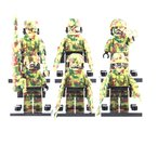 MODERN WAR 特種部隊 迷彩カラー アーミー camo 6体武器フルセット レゴカスタム LEGO パーツ 軍隊 レゴ(LEGO)互換