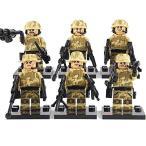 MODERN WAR 特殊部隊 TANカラー camo 6体武器フルセット レゴ カスタム キット LEGO パーツ アーミー レゴ(LEGO)互換