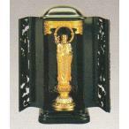 仏像 地蔵菩薩 合金製 純金メッキ 厨子入 高さ14.0cm z27-3