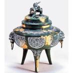 香炉 駒型「付菖蒲地紋」 o75-05