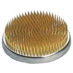 丸型剣山 真鍮針 中丸 ゴム付 71mm