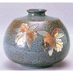 花瓶【花器】 平型(カトレア彫金) 青銅製 o33-03