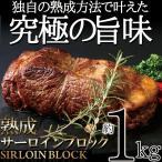 熟成 サーロインブロック 1kg サーロイン ステーキ 塊 肉 牛肉 バーベキュー 牛