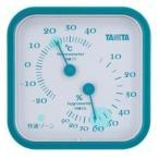温湿度計 温度計 湿度計 アナログ タニタ 測定器 計測器 ブルー