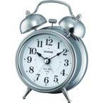目覚まし時計 小型 ベル音 大きい音 大音量 子供 起きれる おしゃれ メタル仕様 連続秒針