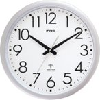 壁掛け時計 大きい/大型 電波時計 ウェーブ420