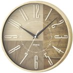 壁掛け時計 電波時計 ウォールクロック おしゃれ インテリア 無垢材 天然木風 直径30cm
