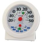 温湿度計 温度計 湿度計 アナログ 卓上置き用 大きい文字 見やすい コンパクト 日本製