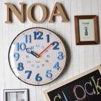 壁掛け時計 電波時計 デニム&コルク調 カジュアル おしゃれ インテリア時計 幅30.5cm