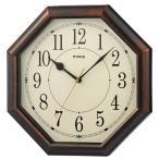 壁掛け時計 電波時計 ウォールクロック 八角形 アナログ インテリア時計 直径30.2cm