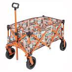 キャリーワゴン キャリーカート レジャーロード 耐荷重80kg 4輪 アウトドア 収束型 折りたたみ式