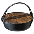 いろり鍋 囲炉裏鍋 鉄鋳物製 田舎鍋 IH対応 26cm(3人〜4人用)