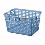 洗濯カゴ ランドリーバスケット Lサイズ ブルー