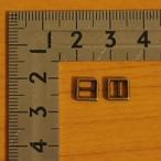 ミニ日型角カン(コキカン) 4mm アンティークゴールド 50組セット【クロネコDM便OK】