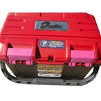 当店オリジナル【リングスター】大型工具箱 ドカット D-4500 レッド/ブラック バックルピンクタイプ 滑り止めクッションサービス