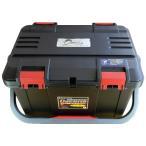 NEW【リングスター】大型工具箱 ドカット D-5000 オリジナルカラー 本体マットブラック/ 蓋ブラック/レッドバックル 中皿が小さくなりました。