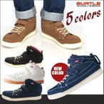 即納 安全靴スニーカー バートル burtle SAFETY FOOTWEAR 809(ハイカット レディース マジックテープ セーフティーシューズ 安全スニーカー 作)