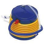 ポンプ 空気入れ 足踏み式 手動 エアーポンプ ステップポンプ プール 浮き輪 風船 アウトドア イエロー 夏 足ふみポンプ エアポンプ