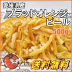 愛媛県産 ドライブラッドオレンジピール  業務用サイズ 500g メール便送料無料